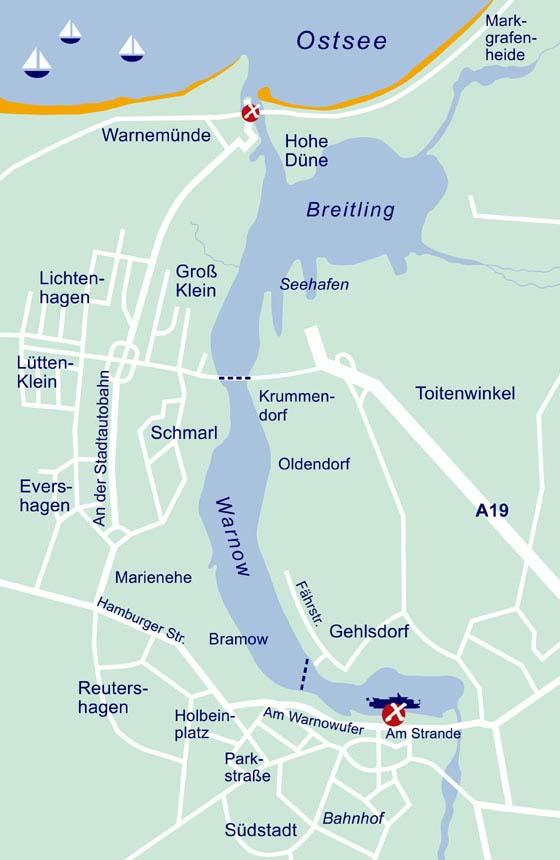 Karte Der Hafenrundfahrt Rostock Warnemunde